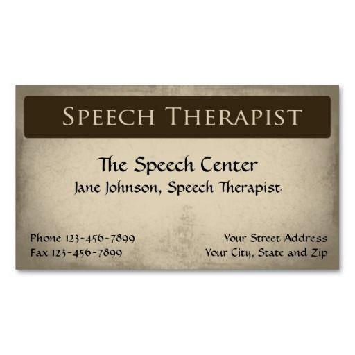 Best 100 speech pathologist business cards images on pinterest speech therapist pathologist business card colourmoves