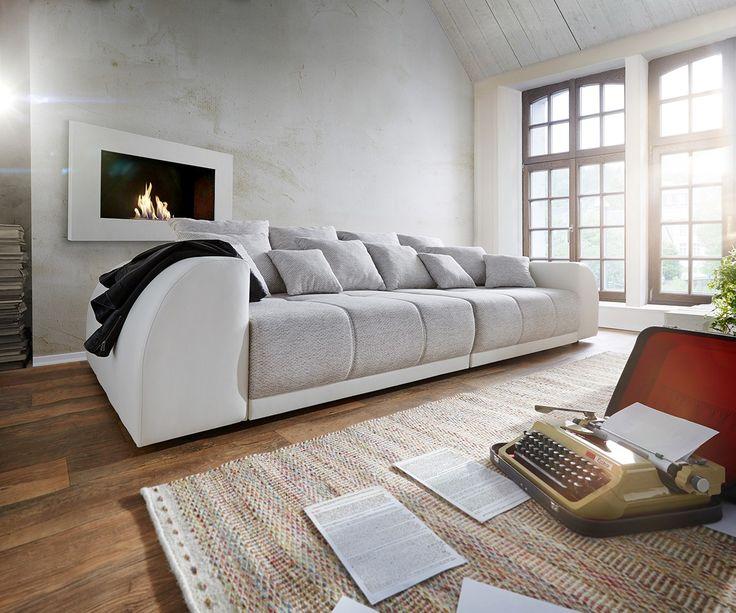 DELIFE Big Sofa Violetta 310x135 Creme Hellgrau Mit 12 Kissen Sofas 10238 Grosse SofasWohnzimmerKaufenOnline BestellenIchBig