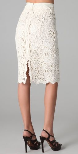 1. I love a beautiful lace skirt 2. What a cool way to do a back slit