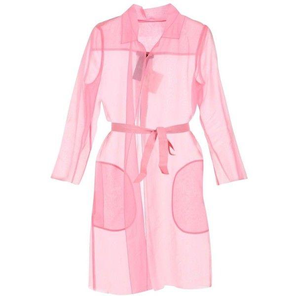 Maxmara Pianoforte Cecilia Cardi Coat (€195) ❤ liked on Polyvore featuring outerwear, coats, jackets, pink, dresses, womenclothingtopwear, maxmara, long sleeve coat, collar coat and maxmara coat