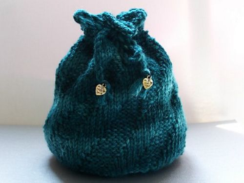 Small Project Bag By Heike Gittins - Free Knitted Pattern - (ravelry)