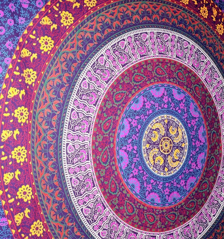 Rawyal- Barhmeri Circle of Flowers Tapestry,Multi-colored Mandala Tapestry Indian Wall Hanging 54 X 84 Inches: Amazon.co.uk: Kitchen & Home