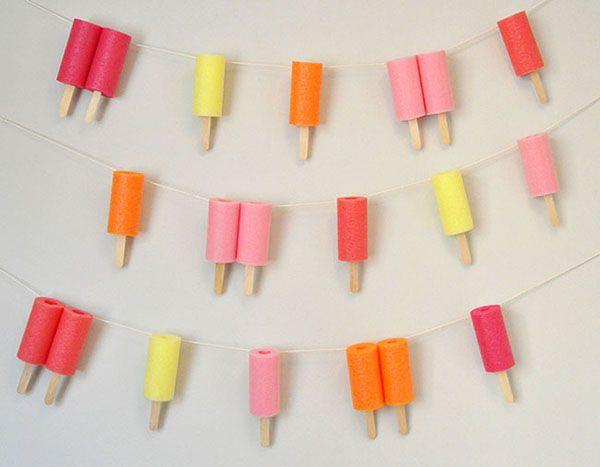 Jumbo Popsicle Garland – Ice Cream Party Ideas