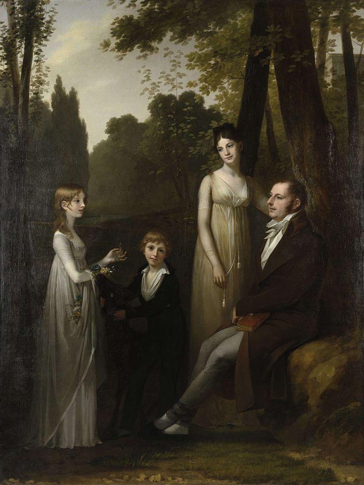 Portret van Rutger Jan Schimmelpenninck en zijn gezin, Pierre Prud'hon, 1801 - 1802 ...and a goat!!!