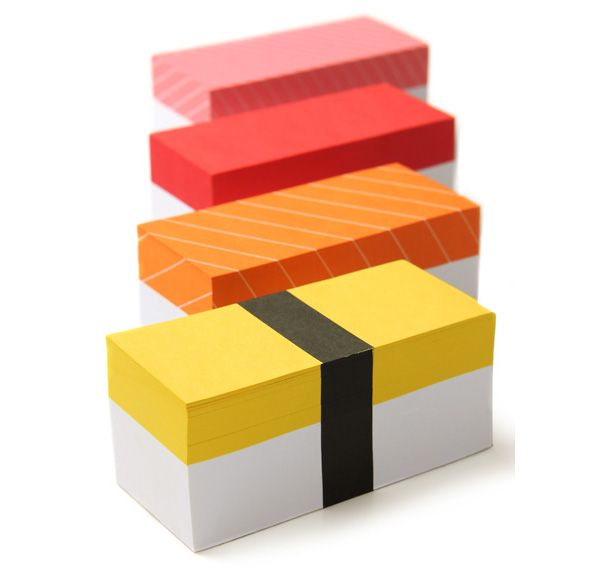 Nigiri memo pads! (You could even decorate old shoe boxes this way and use them for storage.)