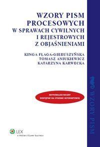 WZORY PISM PROCESOWYCH W SPRAWACH CYWILNYCH REJSTR (5154784879) - Allegro.pl - Więcej niż aukcje.