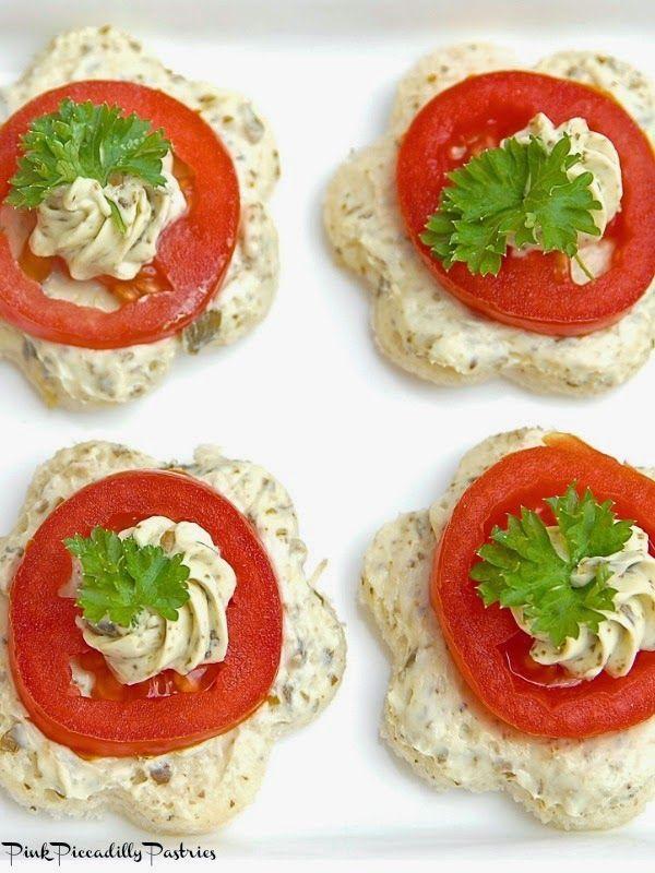Fancy Tomato Pesto Tea Sandwiches