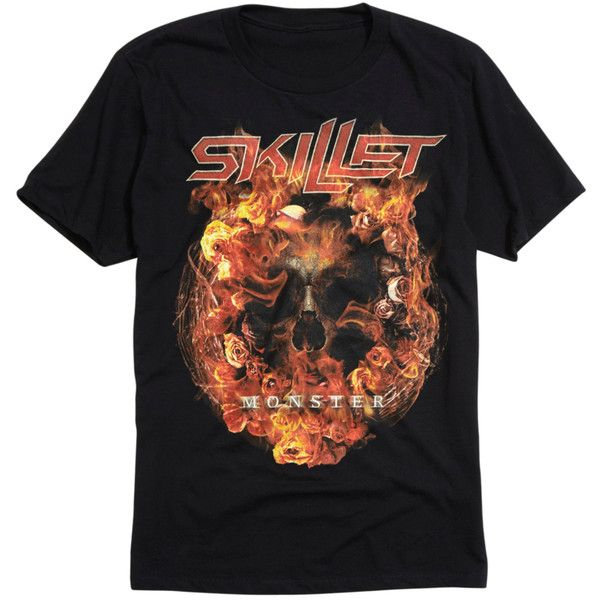 Hot Topic Skillet Monster T-Shirt ($17) ❤ liked on Polyvore featuring men's fashion, men's clothing, men's shirts, men's t-shirts, mens skull shirts and mens skull t shirts
