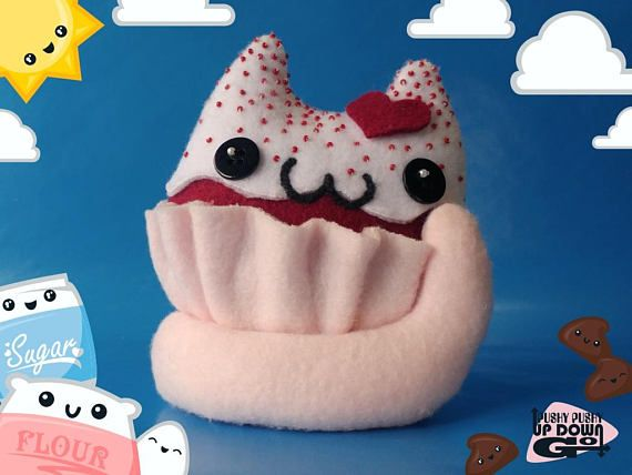 Kawaii Red Velvet Cupcake Cat Food Plushie, Cute Stuffed Cake Cat, Kawaii Valentines Gifts - #redvelvet #redvelvetcake #redvelvetcupcakes #RedVelvetLove #cupcake #cupcakes #cakes #catcake #cats #CuteCats #catlovergift #catlover #cutekawaii #kawaii #baking #bakergift #kawaiifood #sweettooth #desserts #desserttime #kawaiiplushie #kawaiicat #happybirthday #plushies #plushiemaker #stuffedanimals #catplushie #handmade #handmadeplushie