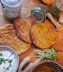 Hemsida med samling av glutenfria recept :D Glutenfritt Naanbröd