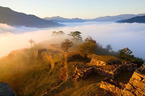 Ruins of Takeda castle, Hyogo prefecture, Japan aka Japan's Machu Picchu