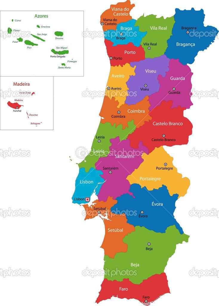 distritos de portugal mapa - Recherche Google