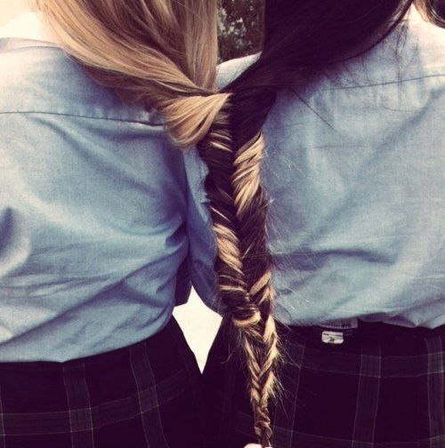 @Heather Fehring - This reminds me of that one time that we shared a ponytail lol. BFFs.