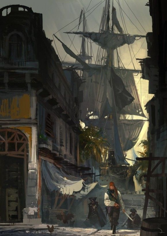 Arte conceitual de Assassins Creed IV: Black Flag #Games #Illustration