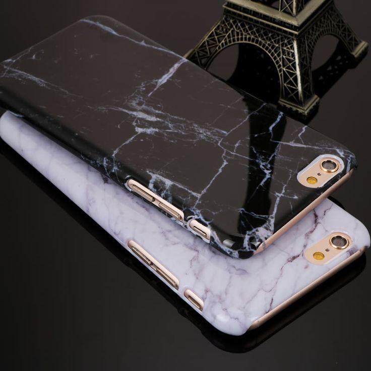 Nuovo Granito Marmo Texture Casse Del Modello Del Telefono Dura Del PC per iPhone 5 5 S SE 6 6 S 6 Più 6 s più 7 7 Più Il Telefono Shockproof borsa