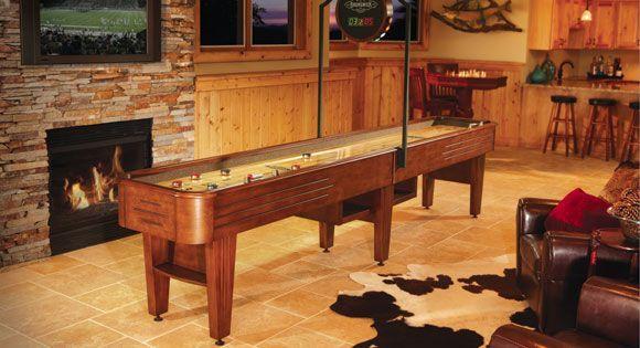 12 ft. Andover #shuffleboard table with scorer from Brunswick Billiards #home #gameroom http://www.brunswickbilliards.com