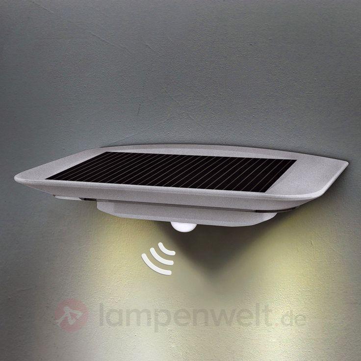 Beautiful Mit Bewegungsmelder Solar Wandleuchte Ghost LED sicher uamp bequem online bestellen bei Lampenwelt