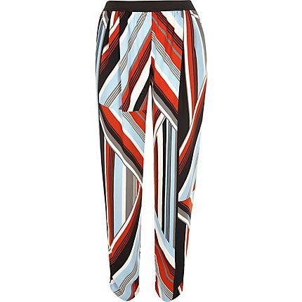 Red stripe lightweight joggers £28.00
