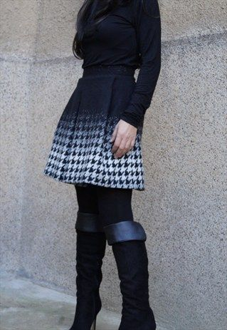 SKIRT/WOOL DRESS/FASHION/MINI SKIRT/WINTER/WOOL SKIRT/F1519