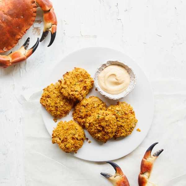 Louisiana crabcakes with spicy mayo