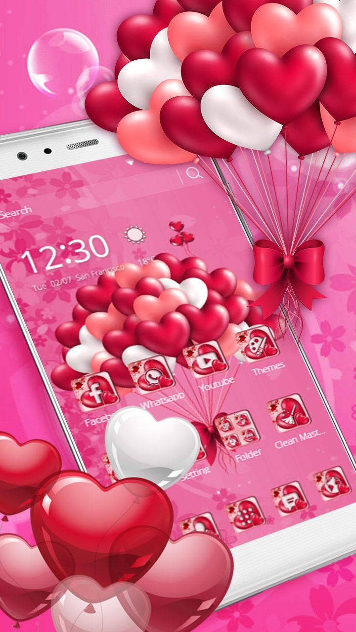 3d P Letter Wallpaper Pink Love Heart Balloons No Romantic Date Is Complete