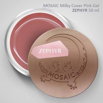 Mosaic Milky Cover Pink Gel ZEPHYR