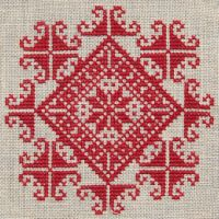 Christmas cross stitch - centre diamond & add some beading??