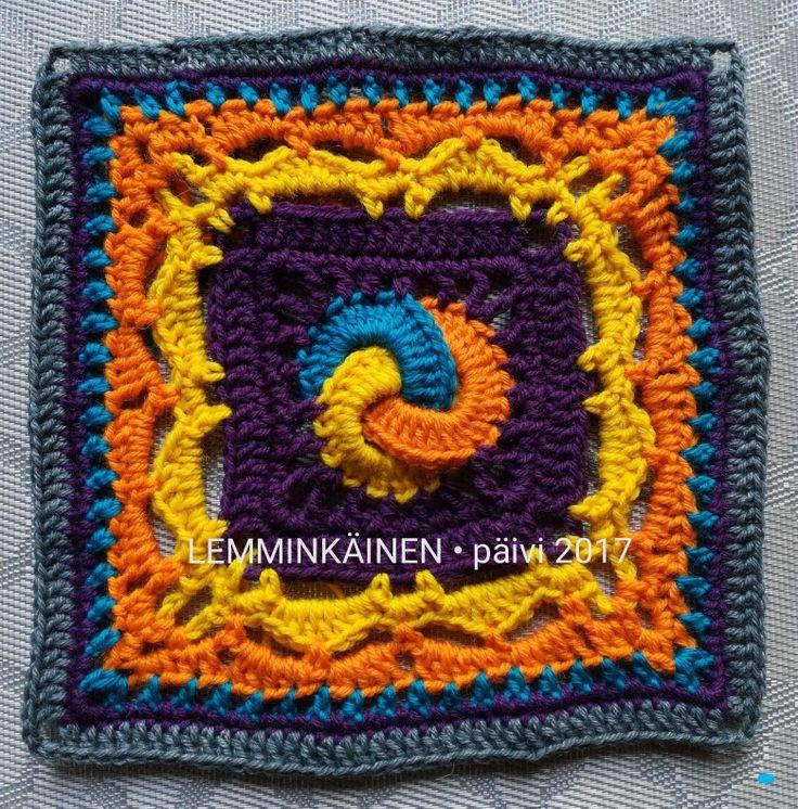 Part7: LEMMINKÄINEN. Designed by Mirva Nikkanen. Crocheted by Päivi M