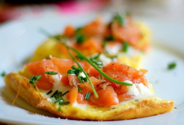 Omelette with Smoked Salmon and Creme Fraiche