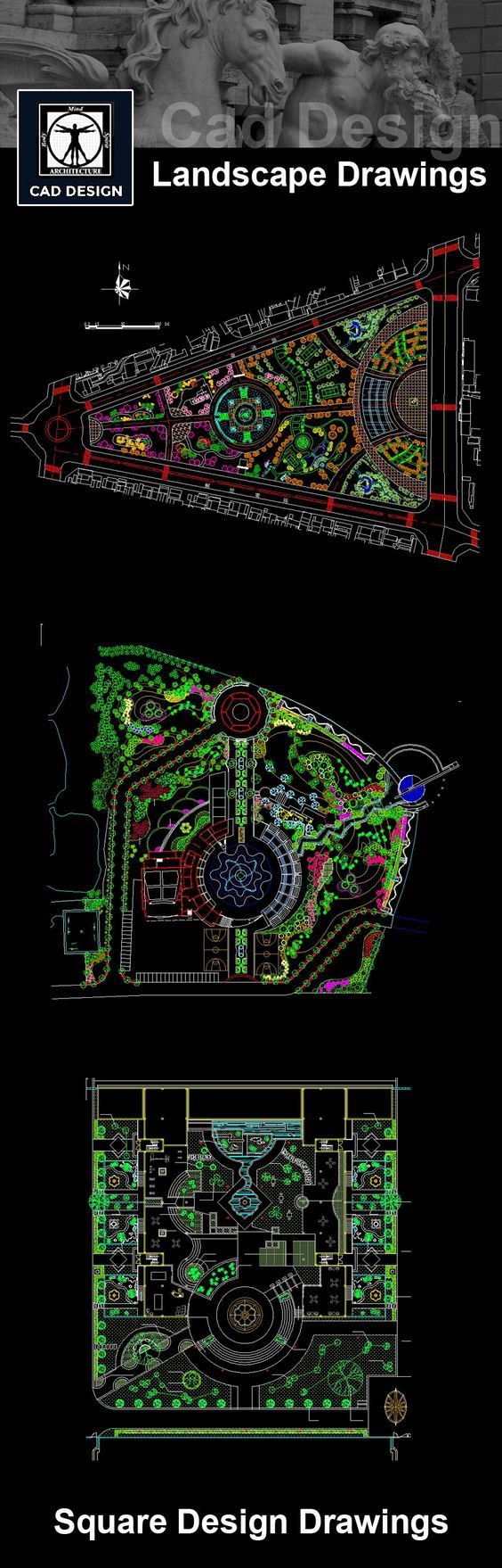 Download Urban Design & Planning Drawings now!! (https://www.cadblocksdownload.com/collections/all/landscape) Download Landscape CAD Drawings   AutoCAD Blocks   Square Design   Residential Landscape  City Square│Landscape Details  Urban City Design  See more about AutoCAD, Cad Drawing and Architecture Details
