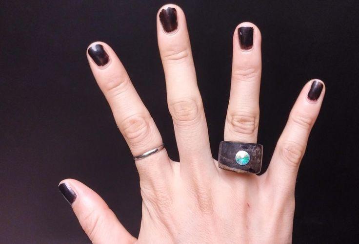 Chansthinks Ebony Gem Wooden Ring #Chansthinks