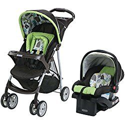 Graco Click Connect Literider Stroller Travel System, Bear Trail, Green