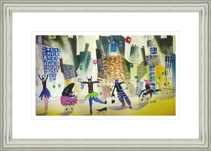 'Put Your Best Foot Forward' by Sue Howells. High Quality Reproduction Framed Print finished with glass panel & expertly framed by Spires Art framing team. Size: 14in X 18in