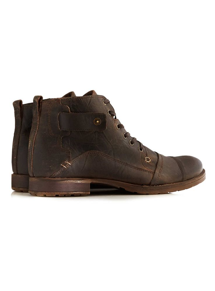 Dune Brown Leather Boots | Topman