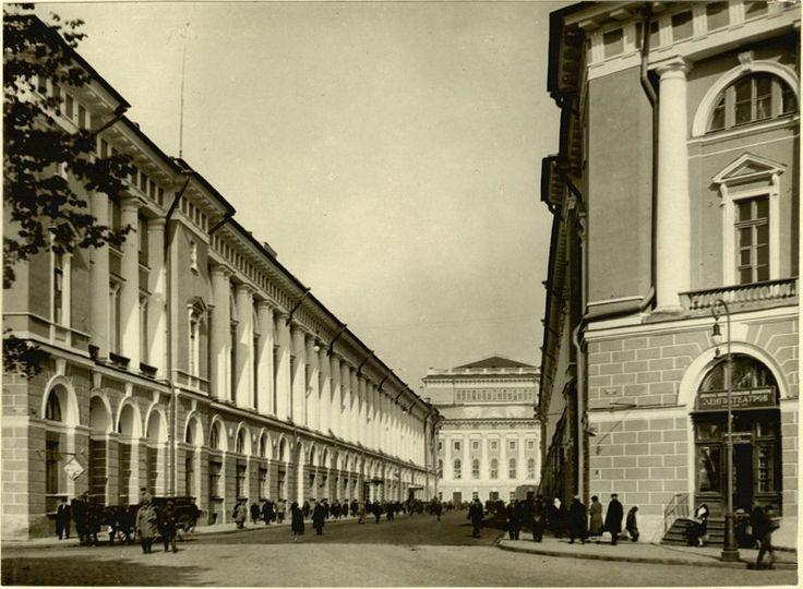 Улица Зодчего Росси.  1933-1940 гг.