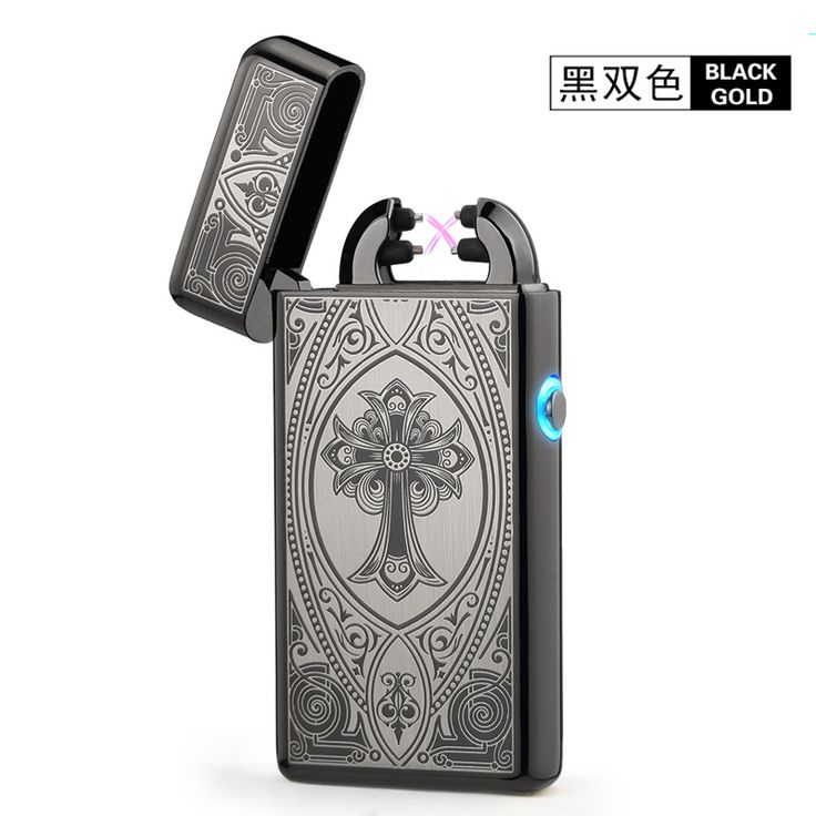 Noble Thin 11mm LED Smoke Cross Double Arc Lighter USB Pulse Cigar Lighters Men Cigarette lighter Box Gift-8014 * AliExpress Affiliate's Pin. Offer can be found by clicking the image