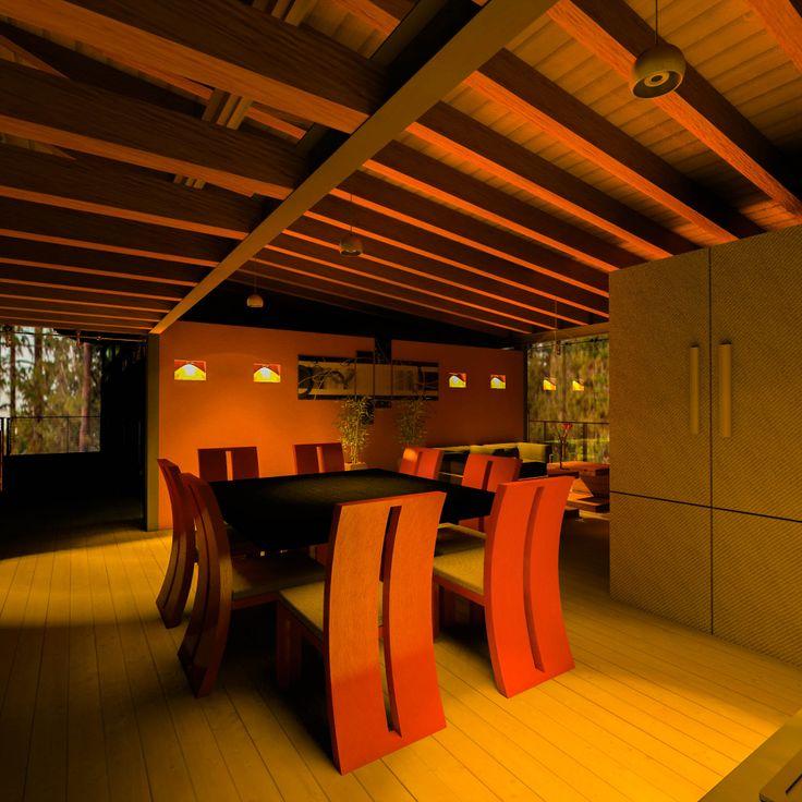 Comedor interior_Cocina Wood-GlassHouse.