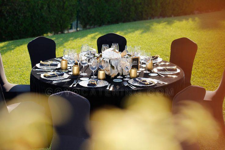 #Mantel #negro de #terciopelo ----- #Black #velvet  #tablecloth | Goyo #Catering (2014) #boda #wedding #ideas #event