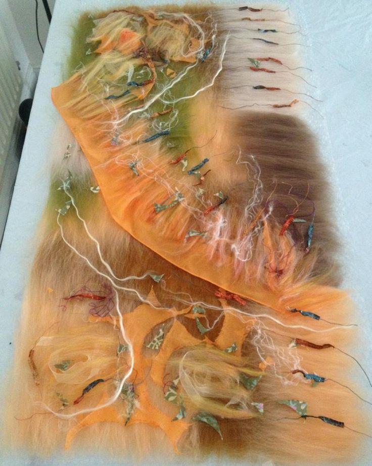 www.nadinsmo.com orange organza and pure merino wool