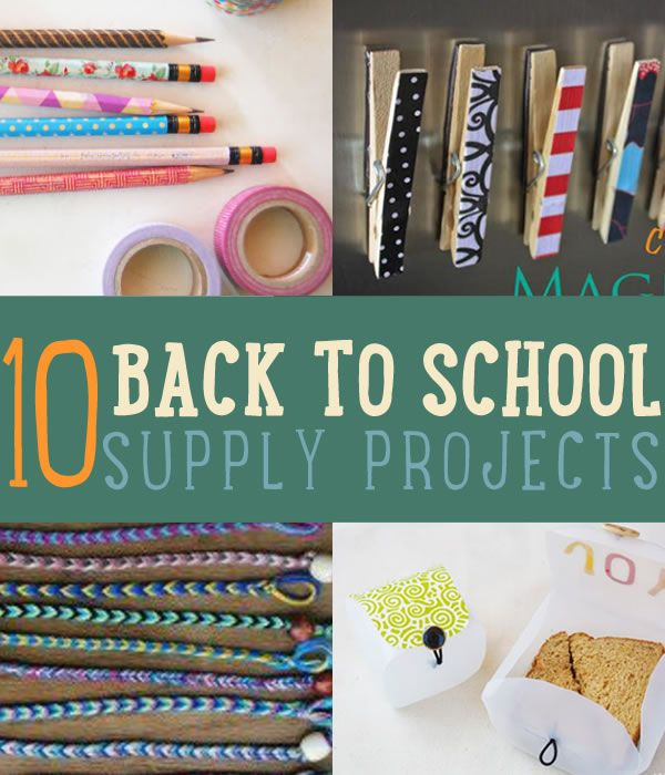 10 DIY Back To School Supplies   10 back to school supply projects you should try. #DiyReady www.diyready.com
