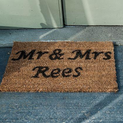Personalised Mr & Mrs  door mat