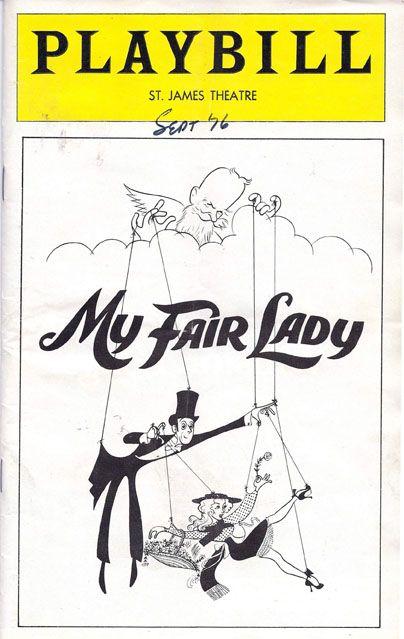 my fair lady playbill