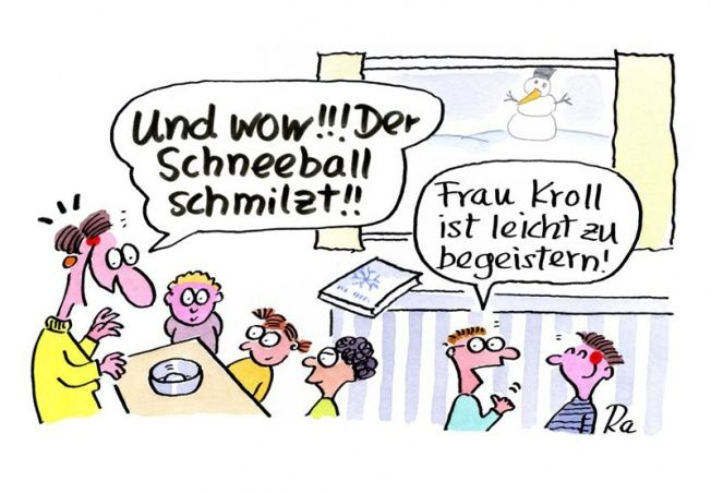 Kindergarten_KiGaPortal_Cartoon_Renate Alf_Schneeball