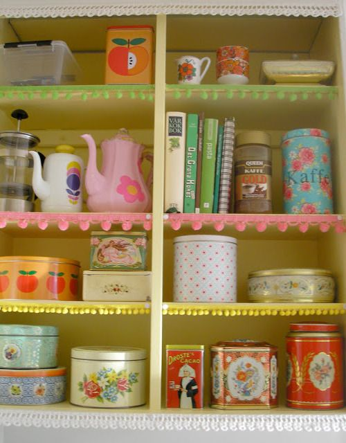Pink+Friday+Kitsch+Kitchen+Shelves Super Bright Colours and Kitschy Cute Home Decor from Pink Friday