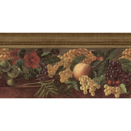 Old Master Fruit Wallpaper Border - Walmart.com