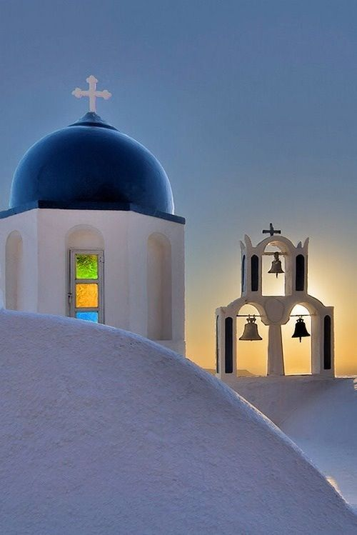Churche in Santorini island, Greece