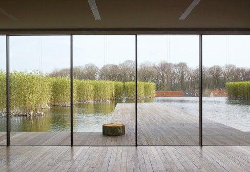 This is the very thing - what's not to like! (must have a word with James about creating water feature in the garden - ha ha) Sky-Frame: Glass sliding windows, Logistic building RS Yellow Möbel
