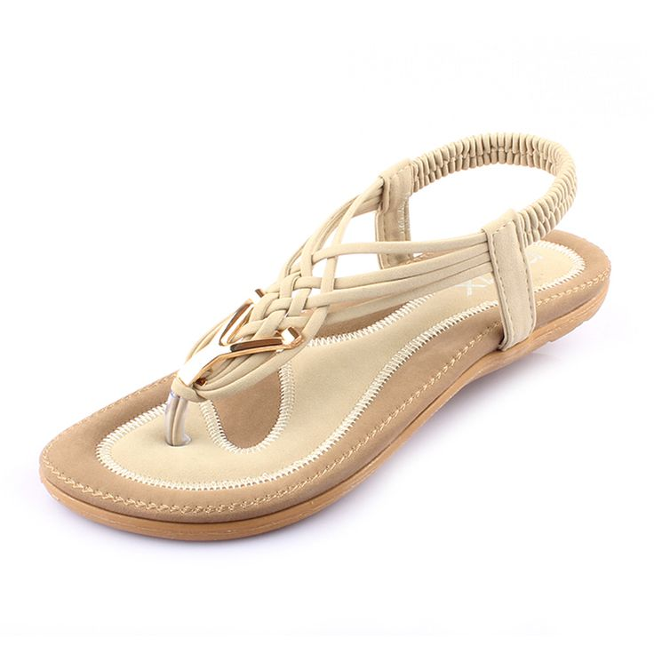 High Quality 2017 Casual Gladiator Sandals Women Summer Sandals Metal Woven PU Leather Flip Flops ladies. Click visit to buy #womensandal #sandal