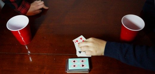 10 simple games for two people to get drunk!  No cop-outs like movie games (drink when ____ says ____ is overdone!).  Only 1 requires cards.