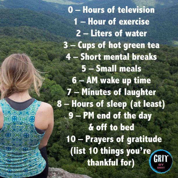 10 healthy habits for sustained success #gritbybrit